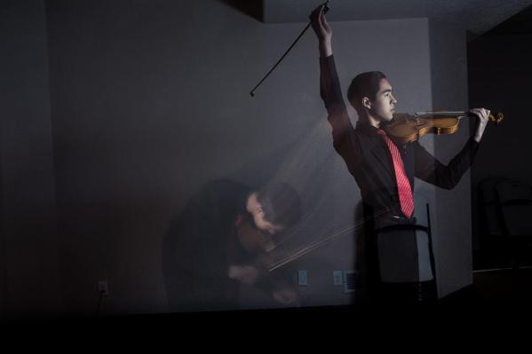 Violin Action Shot